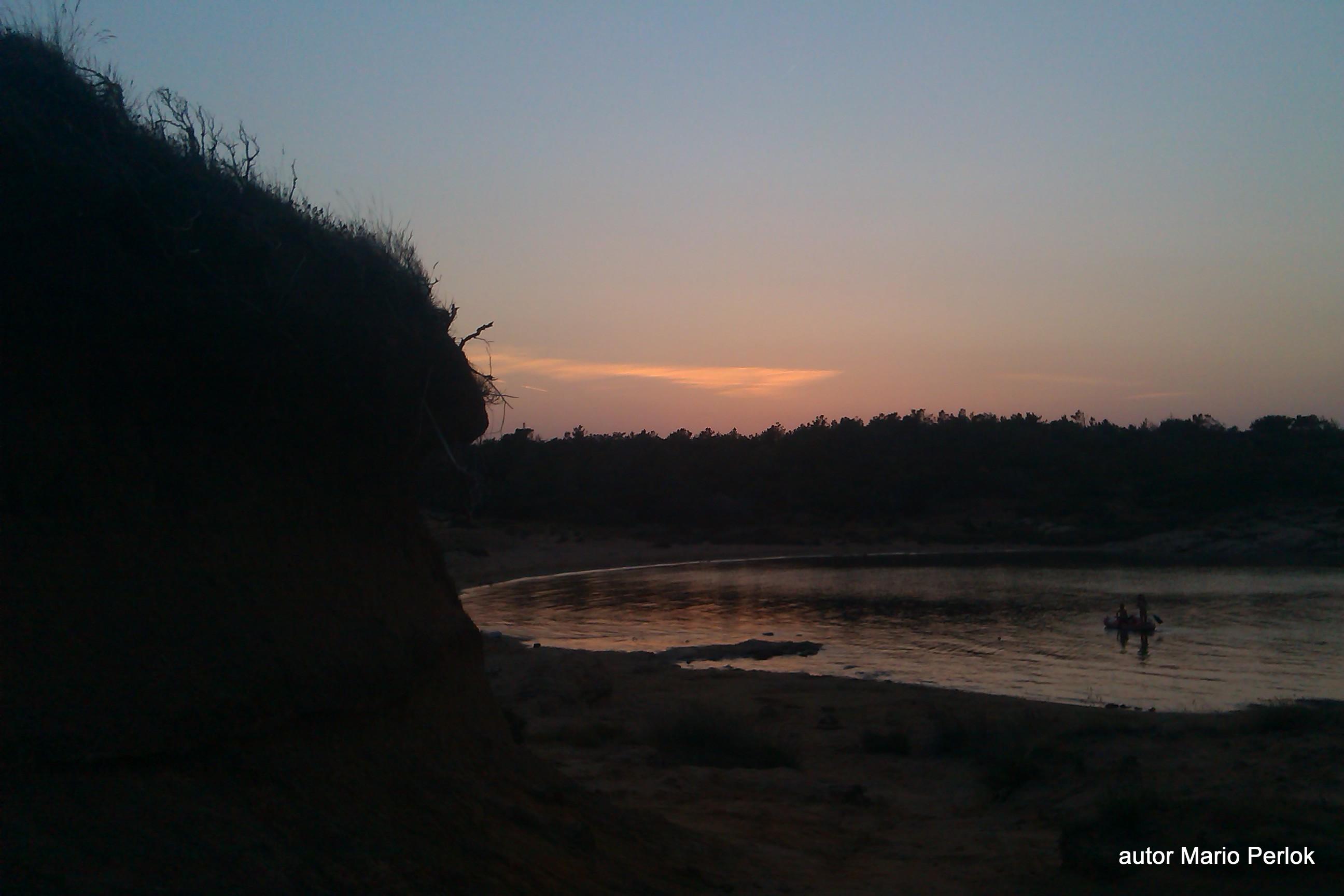Strand ciganka Lopar Sonnenuntergang
